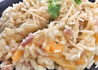Pumpkin & Bacon Risotto