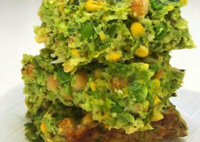 Mushy Pea & Corn Slice